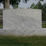 Marble grave marker